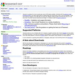 tesseract-ocr - An OCR Engine that was developed at HP Labs between 1985 and 1995... and now at Google.