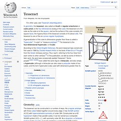 Tesseract - Wikipedia, the free encyclopedia