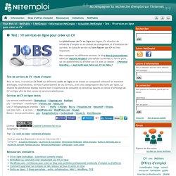 Test : 19 services en ligne pour créer un CV