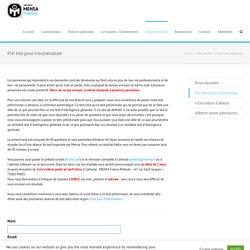 Pré-test pour s'autoévaluer - MENSA France