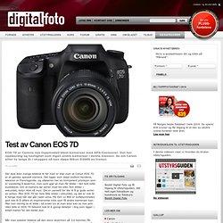 Test av Canon EOS 7D