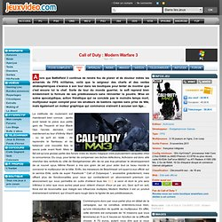 Test de Call of Duty : Modern Warfare 3 sur PC