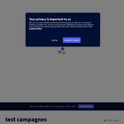 test campagnes par tice sur Genially