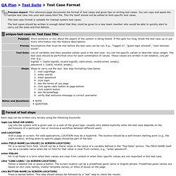 Test Case Format