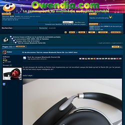 Test du casque Bluetooth Parrot Zik