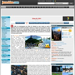 Test de Cities XL 2011 sur PC