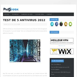 Test de 5 Antivirus 2012