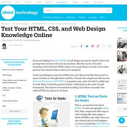 Test Your HTML, CSS, and Web Design Knowledge Online