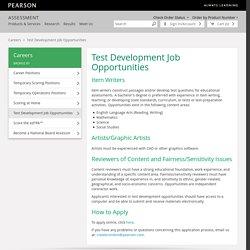 Test Development Job Opportunities