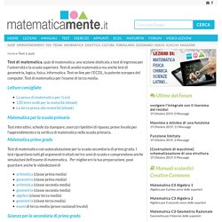 Test e quiz - Matematicamente