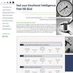 Test Your Emotional Intelligence, Free EQ Quiz, EI Test