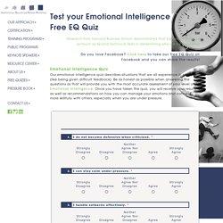 Test Your Emotional Intelligence, Free EQ Quiz, EI Test