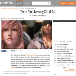 Test : Final Fantasy XIII PlayStation 3 - XIII, chiffre porte-bo