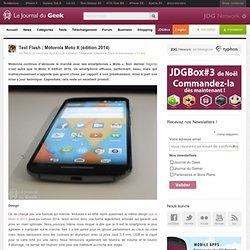Test Flash : Motorola Moto X (édition 2014)