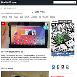 TEST : Google Nexus 10