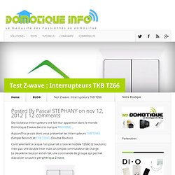 Test Z-wave : Interrupteur TKB TZ66
