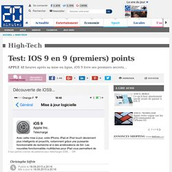 Test: IOS 9 en 9 (premiers) points