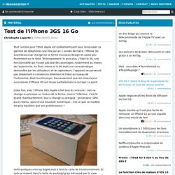 Test de l'iPhone 3GS 16 Go