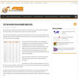 Test du khi deux (ou khi carré) dans Excel