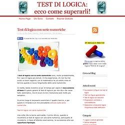 => Test di logica con serie numeriche