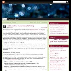 Test du moteur de recherche P2P Yacy » Geek nik