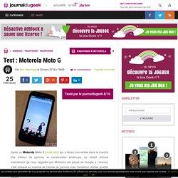 Test : Motorola Moto G