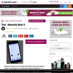 Test : Motorola Moto X