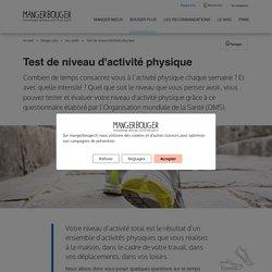 Test de niveau d'activité physique