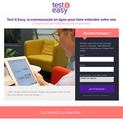 Test It Easy - Panel utilisateur - Intuiti
