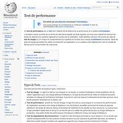 Type de tests