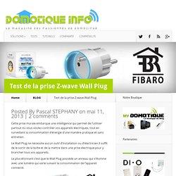 Test de la prise Z-wave Wall Plug