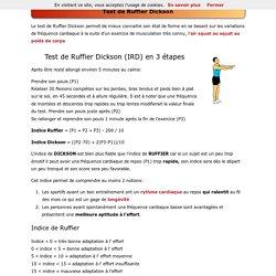 Test de Ruffier Dickson