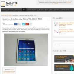 Test de la Samsung Galaxy Tab S2 (8 / 9,7 pouces)
