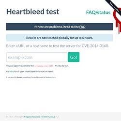 Test your server for Heartbleed (CVE-2014-0160)
