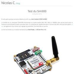 Test du Sim900