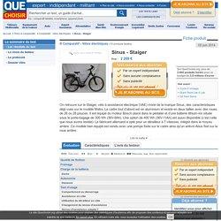 Test Sinus Staiger - Vélo électrique