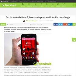 Test du smartphone Motorola Moto G