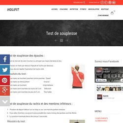 Test de souplesse - HOLIFIT