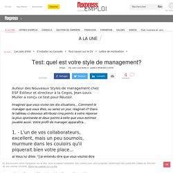 Test: quel est votre style de management?