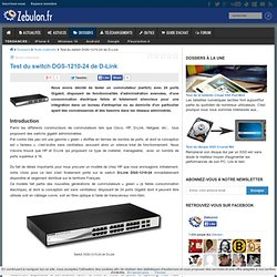 Test du switch DGS-1210-24 de D-Link
