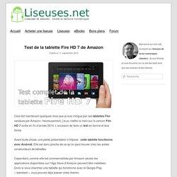 Test de la tablette Fire HD 7 de Amazon