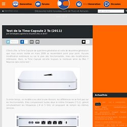 Test de la Time Capsule 2 To (2011)