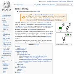Test de Turing - Wikip?dia