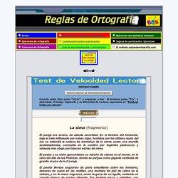 Test Velocidad Lectora 3º Ciclo