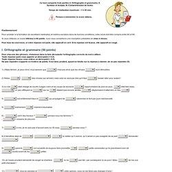 Test - Vos aptitudes en français