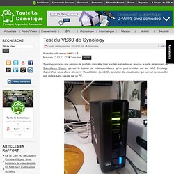 Test du VS80 de Synology