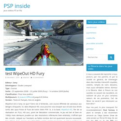 test WipeOut HD Fury – PSP inside