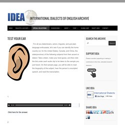 IDEA International Dialects of English Archive