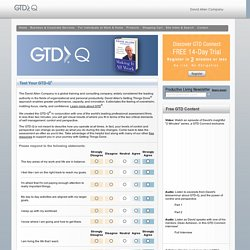 Test Your GTD-IQ