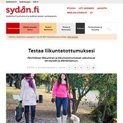 Testaa liikuntatottumuksesi - Sydän.fi